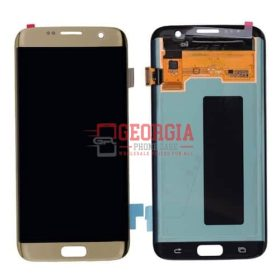 LCD Screen Display with Touch Digitizer Panel for Samsung Galaxy S7 Edge G935/ G935F/ G935A/ G935V/ G935P/ G935T - Gold (High Quality - Substitute Part)