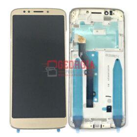 LCD Screen Display Frame with Touch Digitizer Panel for Motorola Moto G6 Play XT1922 / XT1922-6/XT1922-7/XT1922-8/XT1922-9/XT1922-12(for Motorola) - Gold