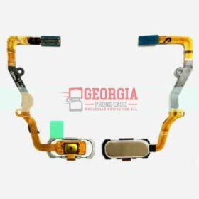Gold Samsung Galaxy S7 Edge G935 Home Button Flex Cable Fingerprint Sensor