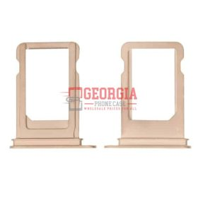SIM Card Tray Holder for iPhone XS - Gold (Single Card Version) (High Quality - Substitute Part)