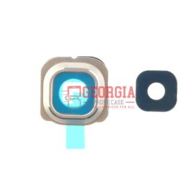 Camera Lens and Bezel for Samsung Galaxy S6 Edge Gold G925 (High Quality - Substitute Part)