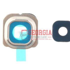Camera Lens and Bezel for Samsung S6 Edge PLUS + G928 Gold (High Quality - Substitute Part)