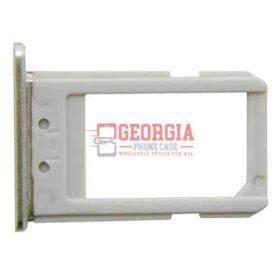 White SIM Card Tray Holder Substitute for Samsung Galaxy S6 Edge Plus G928