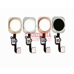 iPhone 6S/6S Plus SILVER Home Button Flex Cable Ribbon, Connector (High Quality - Substitute Part)