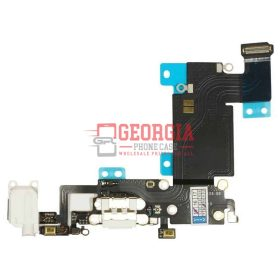 White Charging Port Headphone Jack Mic Flex Cable For iPhone 6S Plus 5.5 (High Quality - Substitute Part)
