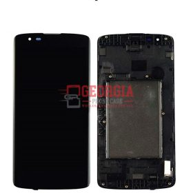 LCD Screen Display with Digitizer Touch Panel and Bezel Frame for LG Phoenix 2 K8 K350N/ K350E/ K350DS/ US375, Escape 3 K371 K373 (for LG) - Black