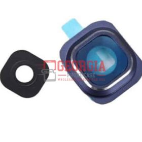 Camera Lens and Bezel for Samsung Galaxy S6 Edge Blue G925 (High Quality - Substitute Part)