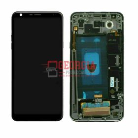 LCD Screen Display with Digitizer Touch Panel and Bezel Frame for LG Stylo 5 Q720(Black Frame) - Black
