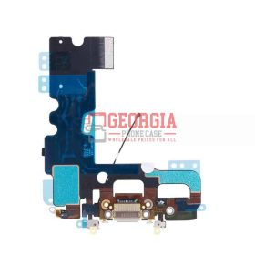 iPhone 7 Gray Charging Dock Port Flex Cable with Microphones Antenna (High Quality - Substitute Part)