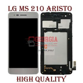 LG Aristo M210 MS210 LV3 K8 2017 Silver LCD Touch Screen Digitizer Substitute