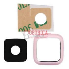 Rear Camera Glass Lens Cover for Samsung Galaxy Note 4 Pink with Adhesives