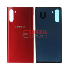 Aura Red Battery Cover Rear Back Glass Housing Door For Samsung Galaxy Note10