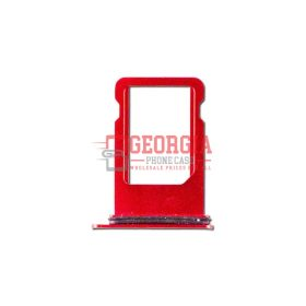 iPhone 8 4.7 inch Sim Card Holder Slot Tray Replacement Red (High Quality - Substitute Part)
