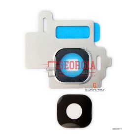 New Rear Back Camera Lens Glass Cover Frame For Samsung S8 G950 Silver