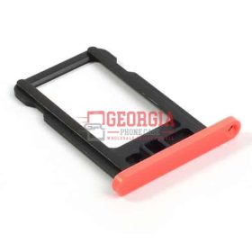 New Pink Sim Card Tray Slot Holder Repair Part Substitute For iPhone 5C (High Quality - Substitute Part)