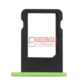 New Green Sim Card Tray Slot Holder Repair Part Substitute For iPhone 5C (High Quality - Substitute Part)