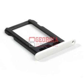 New White Sim Card Tray Slot Holder Repair Part Substitute For iPhone 5C (High Quality - Substitute Part)