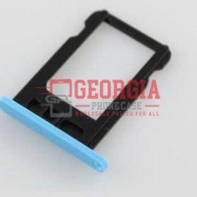 New Blue Sim Card Tray Slot Holder Repair Part Substitute For iPhone 5C (High Quality - Substitute Part)