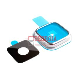 Samsung Galaxy S5 i9600 G900 G9005 Camera Glass Lens Ring Cover Substitute Silver (High Quality - Replacement Part)