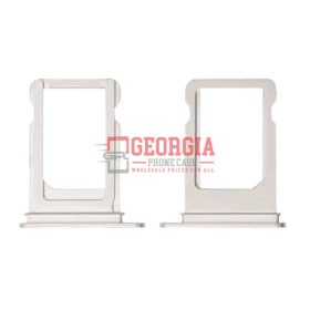 SIM Card Tray Holder for iPhone XS - Silver (Single Card Version) (High Quality - Substitute Part)