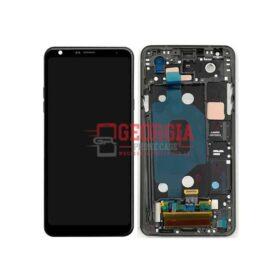 LG Q Stylo 4 Q710CS Q710MS LCD Display Touch Screen Digitizer Black with Frame