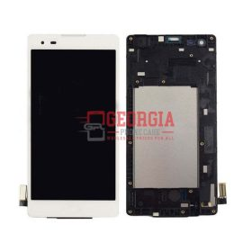 LG Tribute LS676 K6B F740 K200 White LCD Display Touch Screen Digitizer Frame