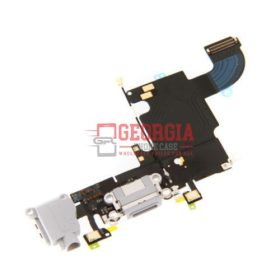 iPhone 6S WHITE Charging Port with Flex Cable, Earphone Jack and Mic (High Quality - Substitute Part)
