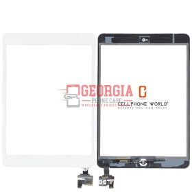 TouchScreen White Digitizer,IC Chip Home Button, Flex for iPad Mini 1 2(Super Quality) (High Quality - Substitute Part)