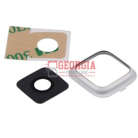 Rear Camera Glass Lens Cover for Samsung Galaxy Note 4 White with Adhesives