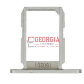 WHITE Samsung Galaxy S6 G920 Sim Card Holder Slot Sim Card Tray Substitute New